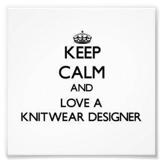 Gardez le calme et aimez un concepteur de tricots impression photo
