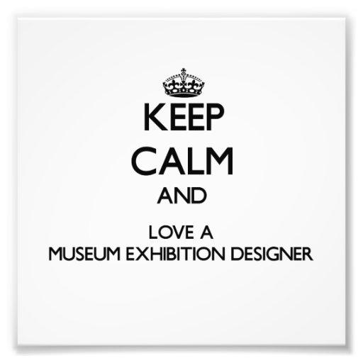 Gardez le calme et aimez un concepteur d'expositio impression photographique
