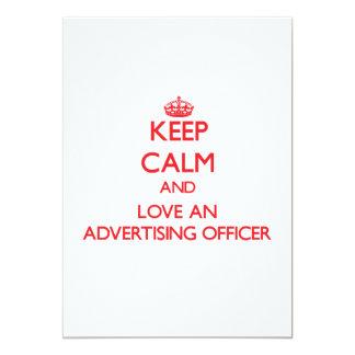 Gardez le calme et aimez un dirigeant de la carton d'invitation  12,7 cm x 17,78 cm
