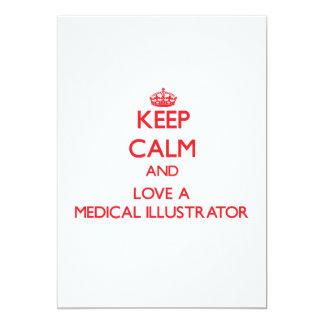 Gardez le calme et aimez un illustrateur médical faire-part personnalisé