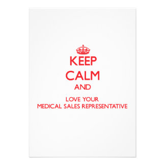 Gardez le calme et aimez vos ventes médicales Repr Invitation Personnalisable