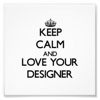 Gardez le calme et aimez votre concepteur photographie d'art