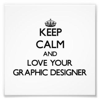 Gardez le calme et aimez votre concepteur photographe