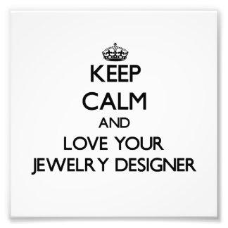 Gardez le calme et aimez votre concepteur de bijou photographes