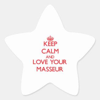 Gardez le calme et aimez votre masseur sticker étoile