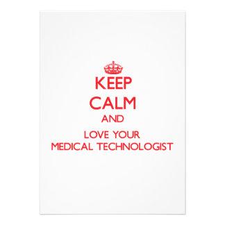 Gardez le calme et aimez votre technologue médical bristol