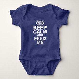 """""""Gardez le calme et alimentez-moi"""" le bébé Body"""