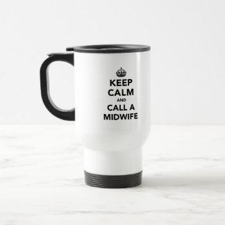 Gardez le calme et appelez une sage-femme mugs à café