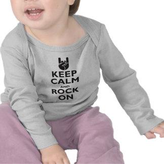Gardez le calme et basculez dessus t-shirts