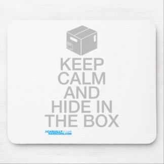 Gardez le calme et cachez dans la boîte tapis de souris