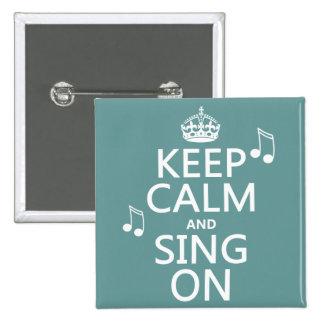 Gardez le calme et chantez dessus - toutes les macaron carré 5 cm