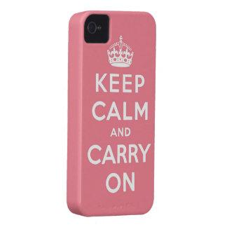 gardez le calme et continuez l'original coques iPhone 4 Case-Mate