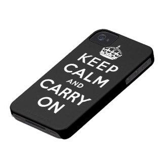 gardez le calme et continuez l'original coques iPhone 4