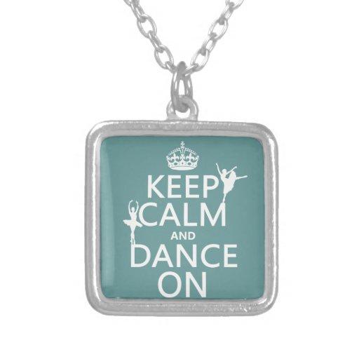 Gardez le calme et dansez sur (ballet) (toutes les bijouterie fantaisie