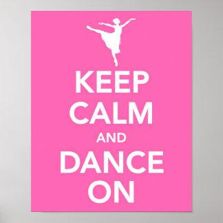 Gardez le calme et dansez sur la copie poster