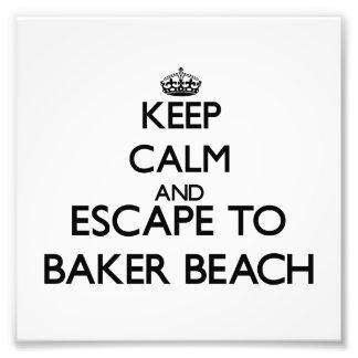 Gardez le calme et échappez-vous à la plage la impression photo