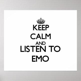 Gardez le calme et écoutez EMO
