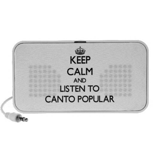 Gardez le calme et écoutez le CHANT POPULAIRE Haut-parleur Portable