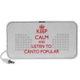 Gardez le calme et écoutez le CHANT POPULAIRE Haut-parleur Mobile