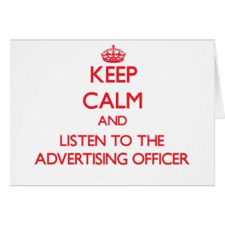 Gardez le calme et écoutez le dirigeant de la publ carte de vœux
