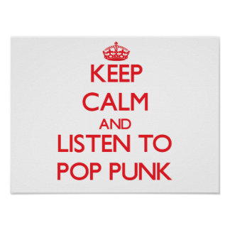 Gardez le calme et écoutez le PUNK de POP