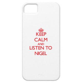 Gardez le calme et écoutez Nigel iPhone 5 Case