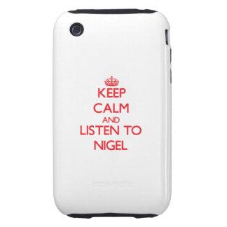 Gardez le calme et écoutez Nigel Coques Tough iPhone 3