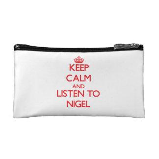 Gardez le calme et écoutez Nigel Trousse De Maquillage