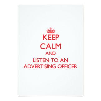Gardez le calme et écoutez un dirigeant de la carton d'invitation  12,7 cm x 17,78 cm