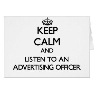 Gardez le calme et écoutez un dirigeant de la publ carte de vœux