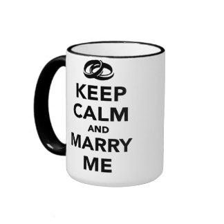 Gardez le calme et épousez-moi mug