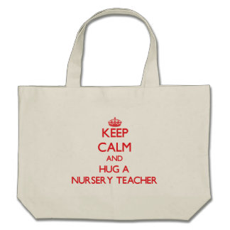 Gardez le calme et étreignez un professeur de crèc sac en toile