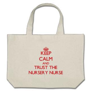 Gardez le calme et faites confiance à l'infirmière sac fourre-tout
