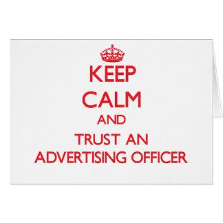 Gardez le calme et faites confiance à un dirigeant carte de vœux