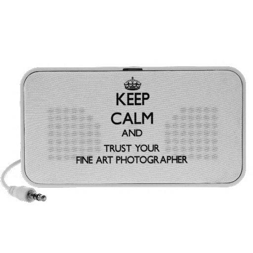 Gardez le calme et faites confiance à votre photog haut-parleur ordinateur portable