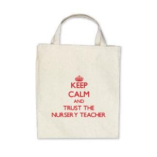 Gardez le calme et faites confiance au professeur sacs en toile