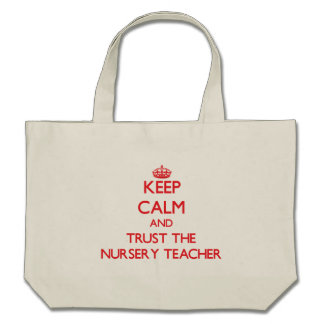 Gardez le calme et faites confiance au professeur sacs fourre-tout