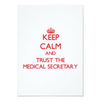Gardez le calme et faites confiance au secrétaire invitations