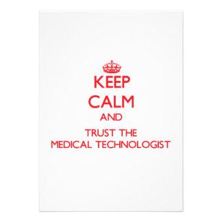 Gardez le calme et faites confiance au technologue faire-parts