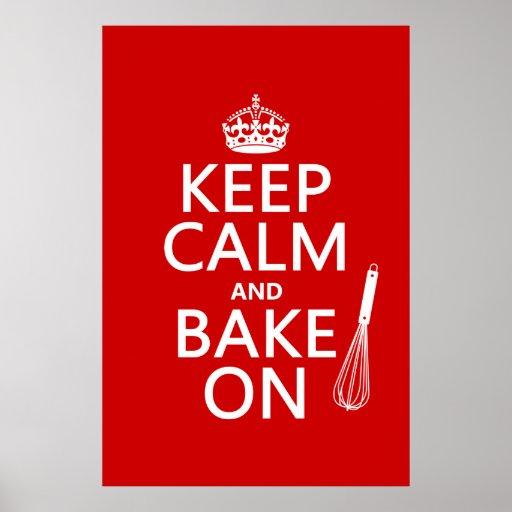 Gardez le calme et faites cuire au four sur (cuisi posters
