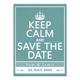 Gardez le calme et faites gagner la date entièrem cartons d'invitation