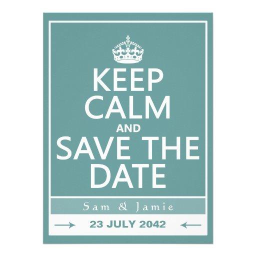 Gardez le calme et faites gagner la date (entièrem cartons d'invitation