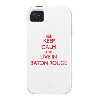 Gardez le calme et habitez à Baton Rouge Étui iPhone 4/4S
