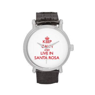 Gardez le calme et habitez à Santa Rosa Montres Cadran