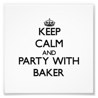 Gardez le calme et la partie avec Baker Photographies