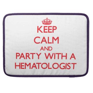 Gardez le calme et la partie avec un hématologue poche pour macbook