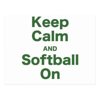Gardez le calme et le base-ball dessus cartes postales