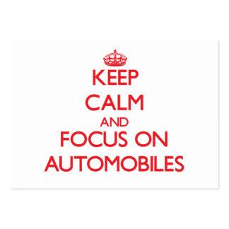 Gardez le calme et le foyer sur des AUTOMOBILES Modèle De Carte De Visite