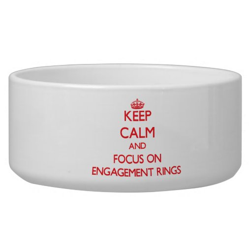 Gardez le calme et le foyer sur des BAGUES DE FIAN Gamelle Pour Chien