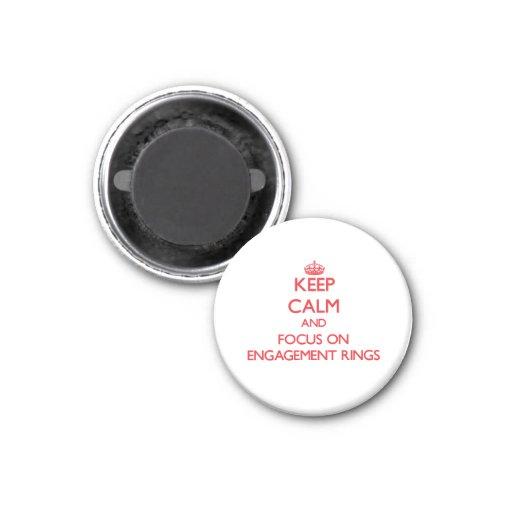 Gardez le calme et le foyer sur des BAGUES DE FIAN Aimants Pour Réfrigérateur